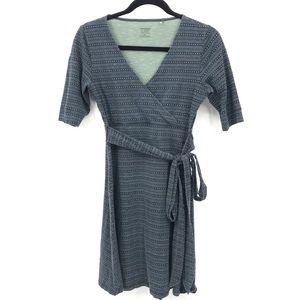 Toad & Co Size XS Blue Cue Wrap Dress